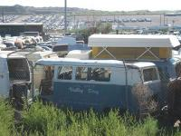 Valley Drug Bus in junkyard