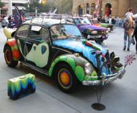 A butterfly beetle from the Art Car Show in San Jose, CA