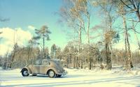 My 1957 oval in the snow