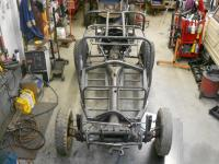 Sears Rascal Buggy Chassis Details and welding on Rotisserie