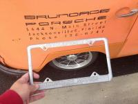 Brundage Volkswagen plate frame