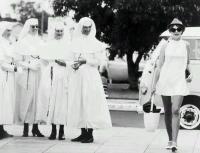 nuns and bus