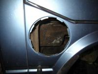 auxiliary fuel tank installation