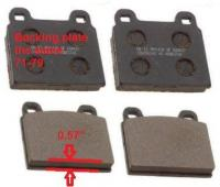 F 71-72, 211-698-151 F, F-pads, D112, about 0.57inch
