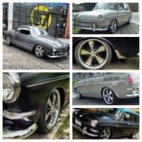 "17"" fuchs on a ghia and two squarebacks"