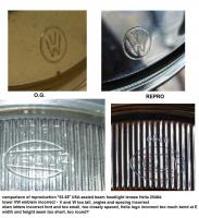 1953-55 USA Hella headlight lens comparison