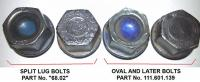 split window lug bolt comparison