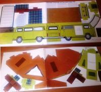 1974 Volkswagen Bus Westfalia Campmobile Cardboard Dealer Model