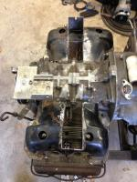 Type 4 motor for my son's Ghia. Getting the Joe Cali upright conversion