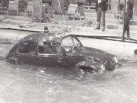 Police Bug checking water tightness
