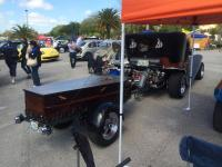 Trike with coffin trailer