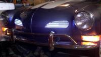 Karmann Ghia, 1971, Custom, Auto-stick, Blue, White Stripes, Wolfburg,