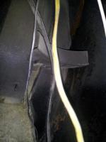 Rear, right inside quarterpanel