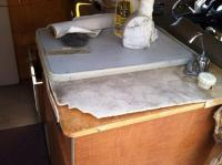 Crusty sink top