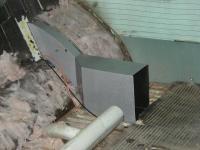 Stewart Warner gas heater installed