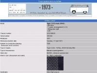 1973 Bus mplate