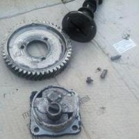 Broken cam gear and oil pump