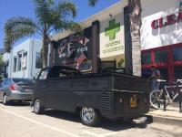 My 58 Semaphore S Cab in front of the barber shop, Old Glory in Venice CA.
