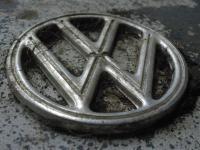 Original Vw logo Four Tab Hood Emblem