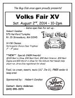 Volks Fair, 2014 Show Flyer