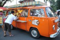 Cafe in orange kombi Thailand