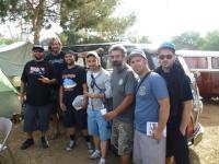 Europeans at our Prado Park campsite.