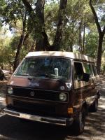 Front of VW Van.