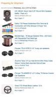 Amazon Order, Car Stereo Speaker Upgrade