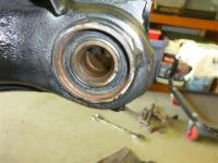 74 bug stub axle and dirt shield , CV side of rear carrier bearing