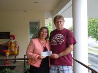 Ronald McDonald House check presentation