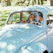My Fjord Blue 1959 Beetle On My Big Day