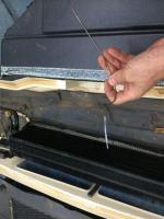A/C coat hanger dealer installed AC ceiling unit