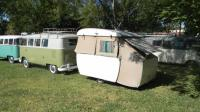 Eric's 1961 Westfalia and German pop-up trailer (also 1961!) at Bus Fest 10