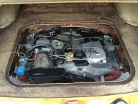 Australian 1972 TLE Fastback, engine install.