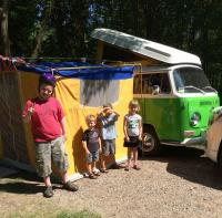 City camping 1970 Westy and Tent