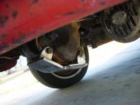 Steering box skid plate
