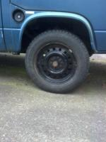 "16"" OEM syncro wheels on a 1985 2wd Vnagon"