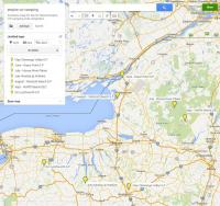 2015 Upstate New York empire camping club schedule map