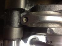 con rod to camshaft interference