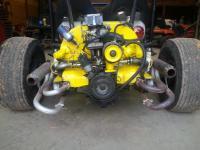 motor leaning left