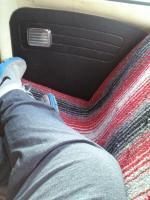 custom back seat upholstery