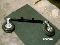 super body off castor wheels and bracket for control arm mounts.