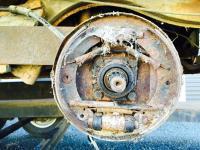 Rear brakes of 1955 barndoor standard
