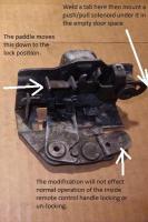 Power door lock modifications