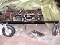 rear pan off castor bracket