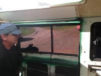 Installing JK slider windows for a baywindow.