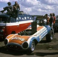 American Flag Bus