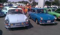 blue squares at Bob Baker show