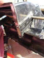 1 of 4 clips to hold air flap at heater core