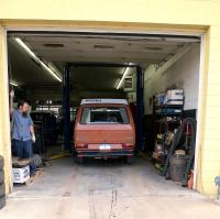 Winston at Rocky Mountain Westy for his New Used Exhaust